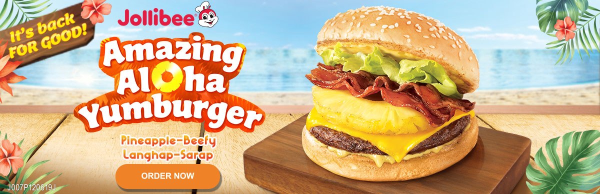 Amazing Aloha Yumburger - Jollibee Delivery - Desktop