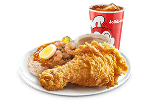 1 - pc. Chickenjoy w/ Palabok