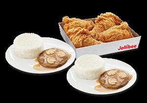 4 - pc. Chickenjoy Family Box w/ Burger Steak