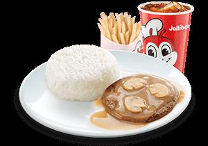 1 - pc. Burger Steak w/ Fries & Drink