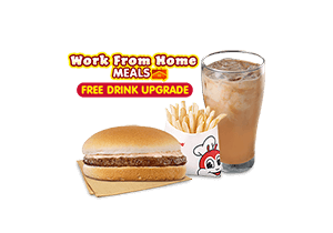 Yumburger w/ Fries & FREE Upgrade to Iced Coffee