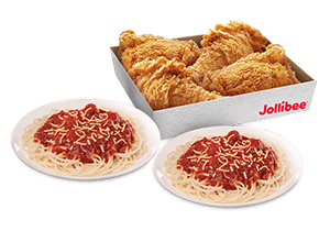 4 - pc. Chickenjoy Family Box w/ Jolly Spaghetti