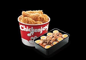 Chickenjoy Bucket w/ Palabok Family Pan