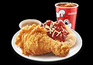 1 - pc. Chickenjoy w/ Jolly Spaghetti