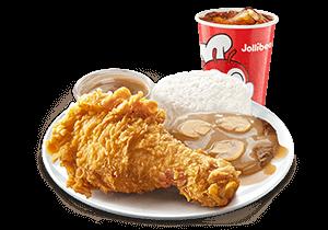 1 - pc. Chickenjoy w/ Burger Steak