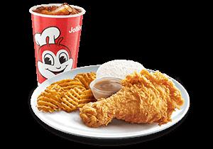 1-pc Chickenjoy w/ Crisscut Fries & Rice