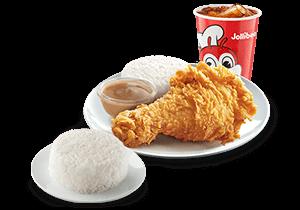 1 - pc. Chickenjoy w/ Double Rice