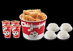 Chickenjoy Bucket w/ Rice & Drinks