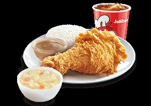 1 - pc. Chickenjoy w/ Creamy Macaroni Soup