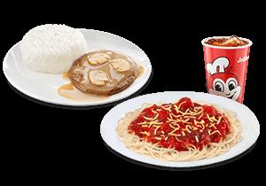 Jolly Spaghetti w/ Burger Steak