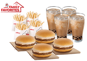 Snack Time Bundle: 4 Yumburger, 4 Reg. Fries, 4 Iced Coffee w/ Coffee Jelly