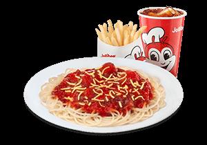 Jolly Spaghetti w/ Fries & Drink