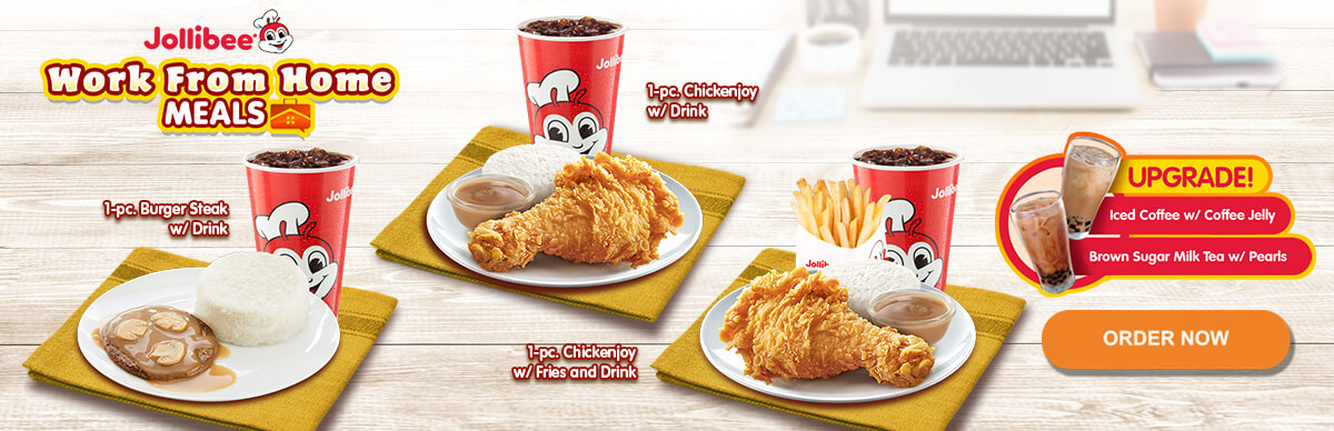 Work From Home Meals - Chickenjoy, Burger Steak - Jollibee Delivery - Desktop